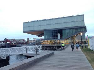 The Institute of Contemporary Art overlooks the scenic Boston Inner Harbor. (photo by Tiffany Searles)