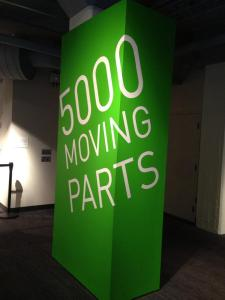 The 5000 Moving Parts exhibit was a highlight of the visit (Photo by Tiffany Searles)