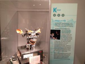 Kismet is a robot designed to mimic human facial expressions (Photo by Tiffany Searles)
