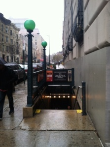 The museum is located in an old subway stop, complete with this awesome entrance