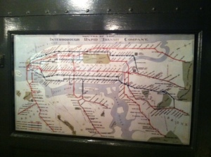 An old subway map, interesting in that west is the top of the math instead of north