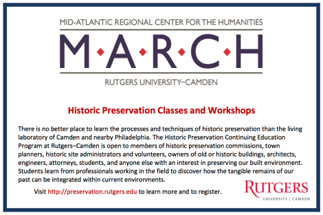 Historic Preservation Classes and Workshops ad